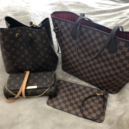 e14214276a00 My most practical Louis Vuitton purse is my Neverfull MM in Damier Ebene  canvas. Since I wasn t able to use my Speedy for work